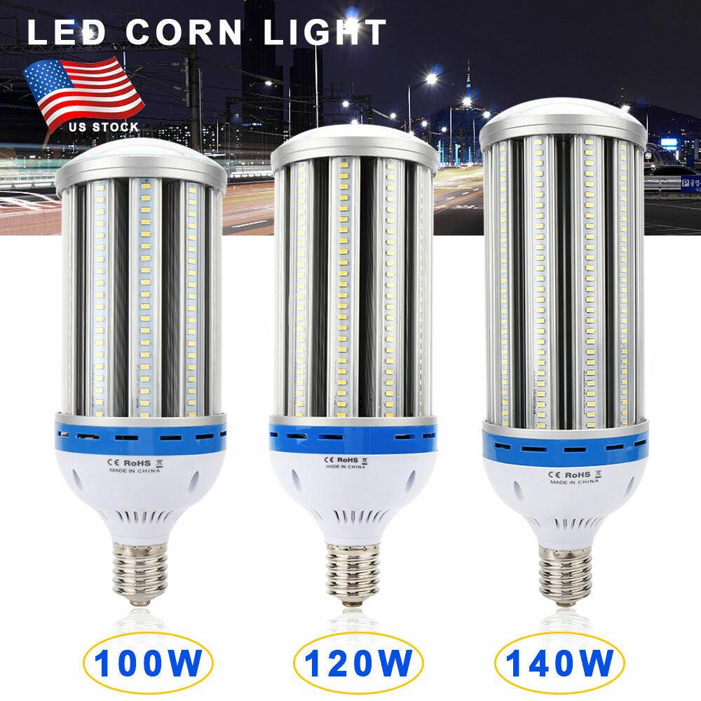 100W 120W 140W LED luz de maíz Bombilla E40 blancoo frío 6500K para Lámpara al aire libre de interior