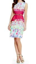 NWT Antonio Melani New Playing Favorites Tiago Peplum Crepe Dress Size 8