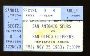1983-San-Antonio-Spurs-v-San-Diego-Clippers-Ticket-George-Gervin-36-Pts-11-25-83