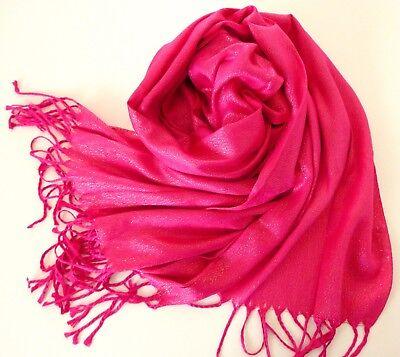 Stola Schal Tuch Hochzeit Abendkleid Überwurf Glanz Gold Lurex glänzend Pink
