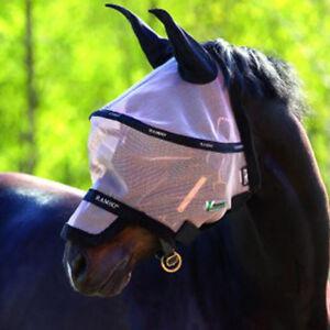 Horseware-Rambo-Fliegenmaske-Plus-Vamoose-mit-Ohren-Fliegenschutz-Fliegenhaube