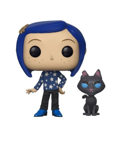 Multicolor Funko 32811 Pop Movies Coraline with Cat Buddy Collectible Figure