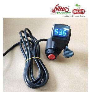 19-E-BIKE-Thumb-Throttle-with-LCD-Digital-Battery-Voltage-Display-3-Speed-Switch
