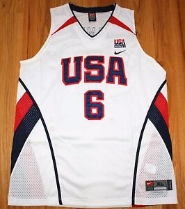 new style 39342 2e112 Details about LEBRON JAMES #6 NIKE AUTHENTIC USA NATIONAL BASKETBALL TEAM  JERSEY XL NEW NWT