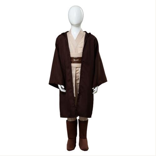 Star Wars Jedi Obi Wan Kenobi Cosplay Costume Halloween Children Suit Uniform