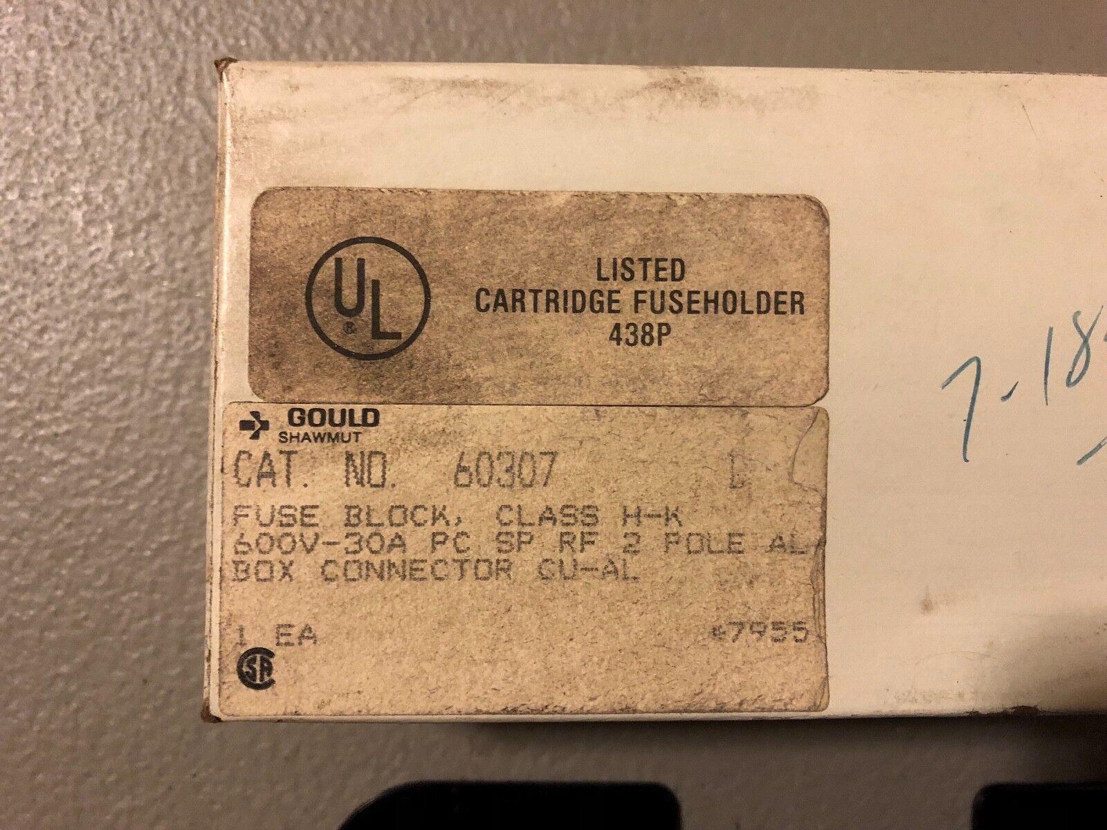 Gould Shawmut Fuse Holder 60307 600v 30a Ebay Box Cartridge Norton Secured Powered By Verisign