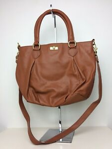 Image Is Loading J Crew Brown Leather Handbag Purse
