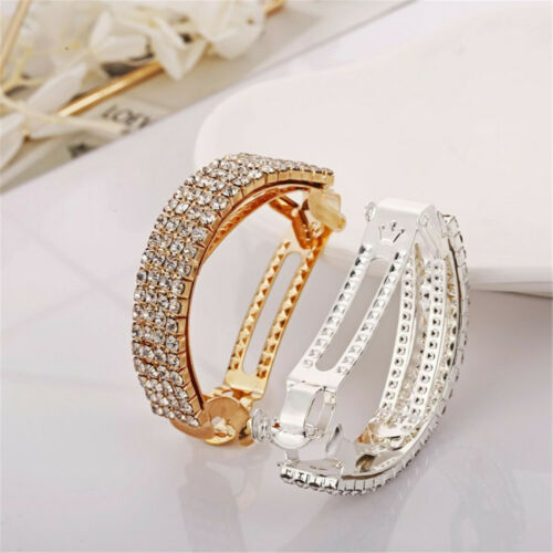 Details about  /Fashion Women Crystal Barrettes Hair Clips Pins Hairpin Ponytail Accessories