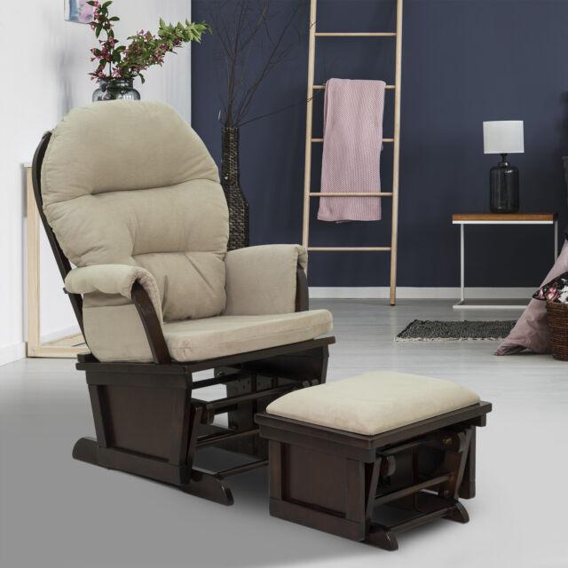 2pc Nursery Glider Rocking Chair With