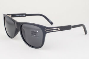 89ac6575a3 Image is loading Mont-Blanc-Shiny-Black-Gray-Mirror-Sunglasses-MB641S-