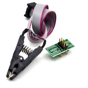 SOIC8 SOP8 Flash Chip IC Test Clips Socket Adpter BIOS//24//25//93 Programmer