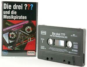 Die-drei-52-Fragezeichen-und-die-Musikpiraten-Hoerspiel-MC-schwarz-Kassette