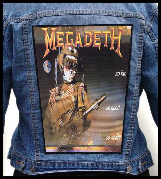 MEGADETH - So Far, So Good... So What!   --- Back Jacket Patch backpatch
