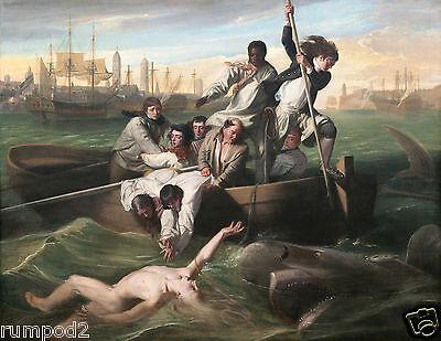 Vintage Painting/Fine Art Poster/'Watson and the Shark'/John Singleton Copley