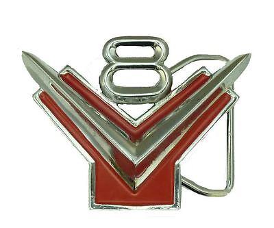 F010304 FORD Y BLOCK V8 LOGO BELT  BUCKLE