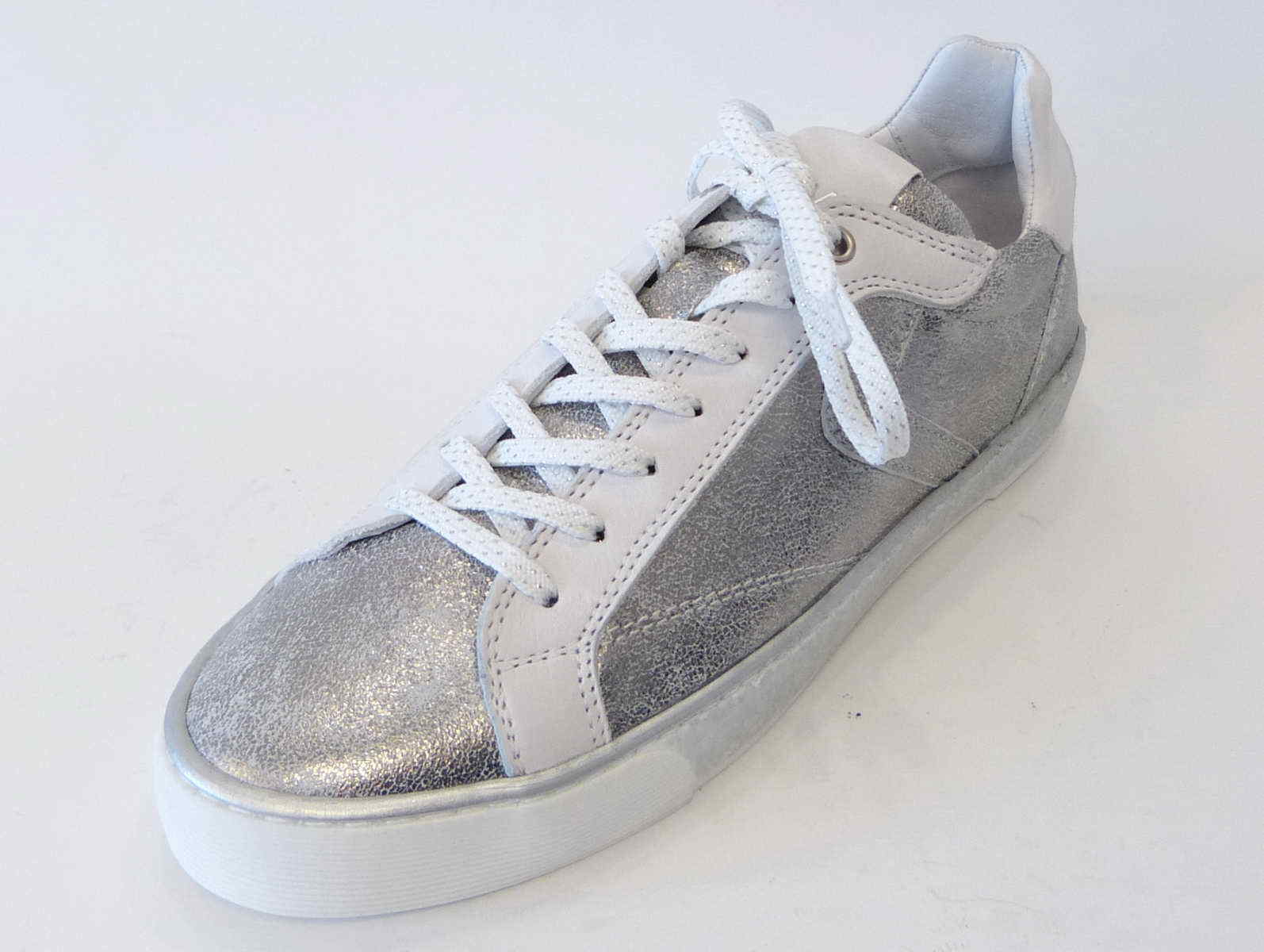 Zapatos promocionales para hombres y mujeres Maca Kitzbühel Sneaker white Silver weiß 2247 90 Leder Einlage