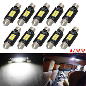 10X-41mm-3030-6SMD-LED-INTERIOR-DOME-MAP-PANEL-light-bulbs-canbus-white-239-C5W