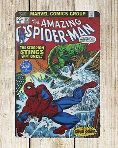 Details about US SELLER- bedroom decor ideas Amazing Spider Man Marvel  comics metal tin sign
