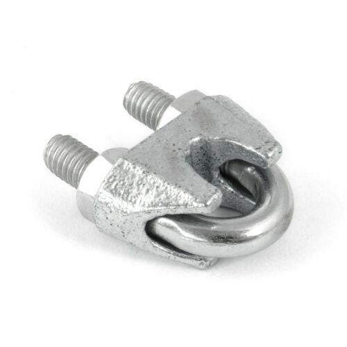 galvanisch verzinkt 1-100 Stk. 3-26 mm Bügel Seilklemme Klemme Klemmen