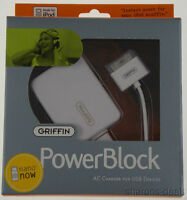 Griffin Powerblock Ac Charger For Ipod Touch Iphone Usb