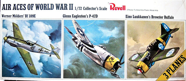 3 Kits in 1 Revell 1/72 Air Aces of World War II Kit H-684 Vintage 1966