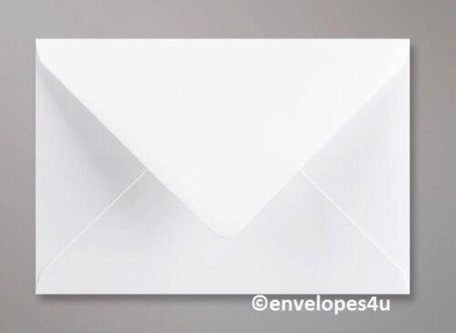 Qualité HI Blanc Enveloppes C7 C6 C5 5x7 DL 130 /& 155 mm SQ Diamond 100gsm