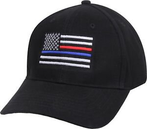 Details about Black Thin Blue Line Thin Red Line USA Flag Support Police  Firefighters Hat Cap d79f1f9c1cf