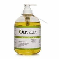 Olivella Virgin Olive Oil Face and Body Liquid Soap 16.9 oz (Pack of 7)
