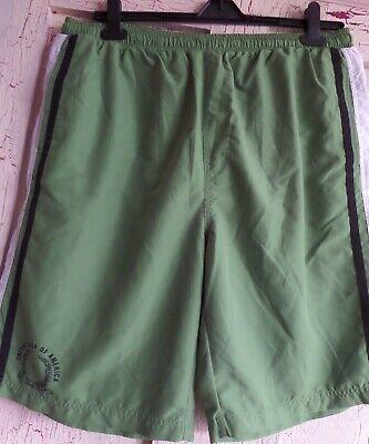 2019 Moda Men's Green Swim Pantaloni Corti Taglia Xxl George At Asda-