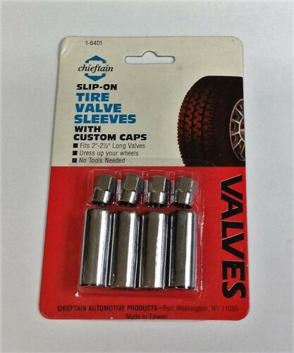 FOUR Tire Valve Stem Sleeves with Tire Valve Caps