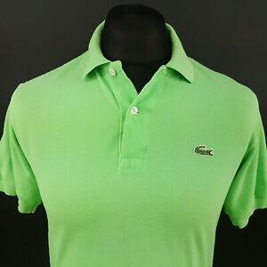 Lacoste Polo homme 3 (XS) à manches courtes vert Regular Fit aucun Motif Coton