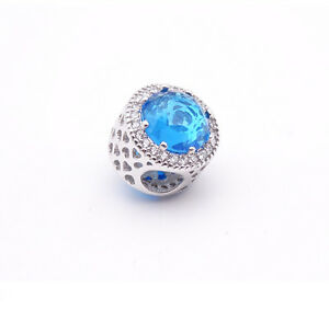 New-European-Silver-CZ-Charm-Beads-Fit-sterling-925-Necklace-Bracelet-Chain-39v