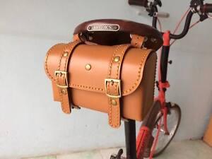 Details About Genuine Leather Bicycle Saddle Bag Utility Tool Brooks Vintage Handmade