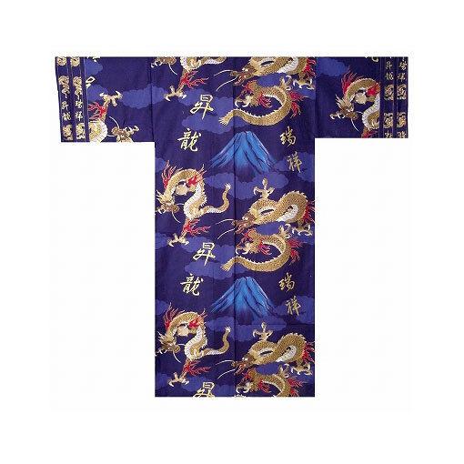 GroßZüGig Authentische Japanische Yukata / Luftiger Kimono: Drache & Mt. Fuji #893 (de) HeißEr Verkauf 50-70% Rabatt