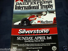 SILVERSTONE INTERNATIONAL TROPHY 1984 PROGRAMME F2 ROLF BILAND  JO GARTNER FERTE