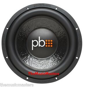 """PowerBass M-1204 Car Audio 12"""" SVC SUBWOOFER Stereo Sub WOOFER HQ Bass Speaker"""