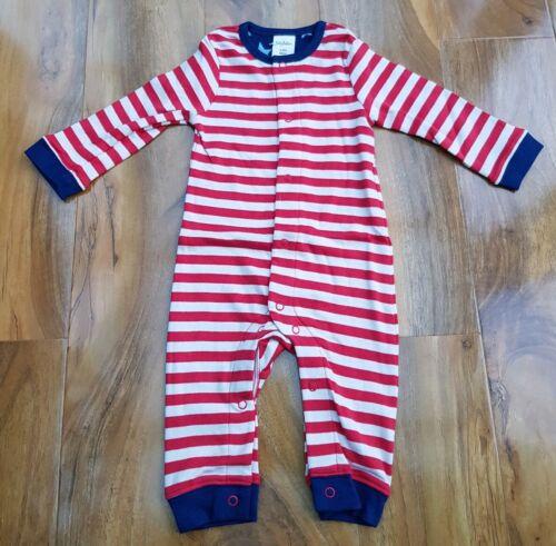 Mini Boden Baby Boys LONG SLEEVE Striped Romper Y0402 BRAND NEW