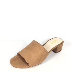 957fe642da81 Details about Bar III Jane Women s Size 6.5 M Dark Tan Block Heel Slide  Sandals.