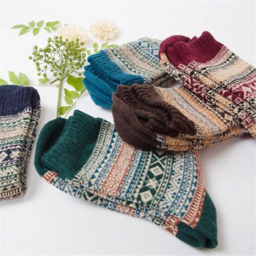 1 Paar Mode Männer Thermosocken Winter Warm Wolle Damenmode Dick Socken R9L5