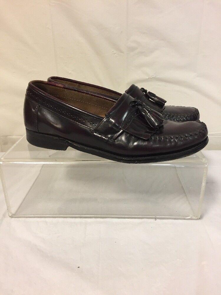 GH G.H. Bass & Co. Mens Tassel Loafer Burgundy Leather Size 8.5 D