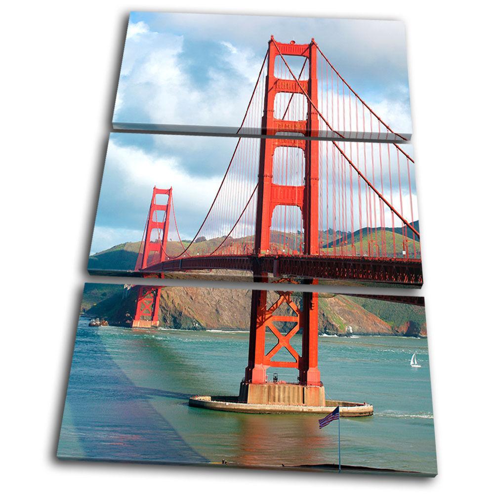 Canvas Art Picture Print Photo San San San Francisco City oroen Gate Bridge Landmark 7b45c7