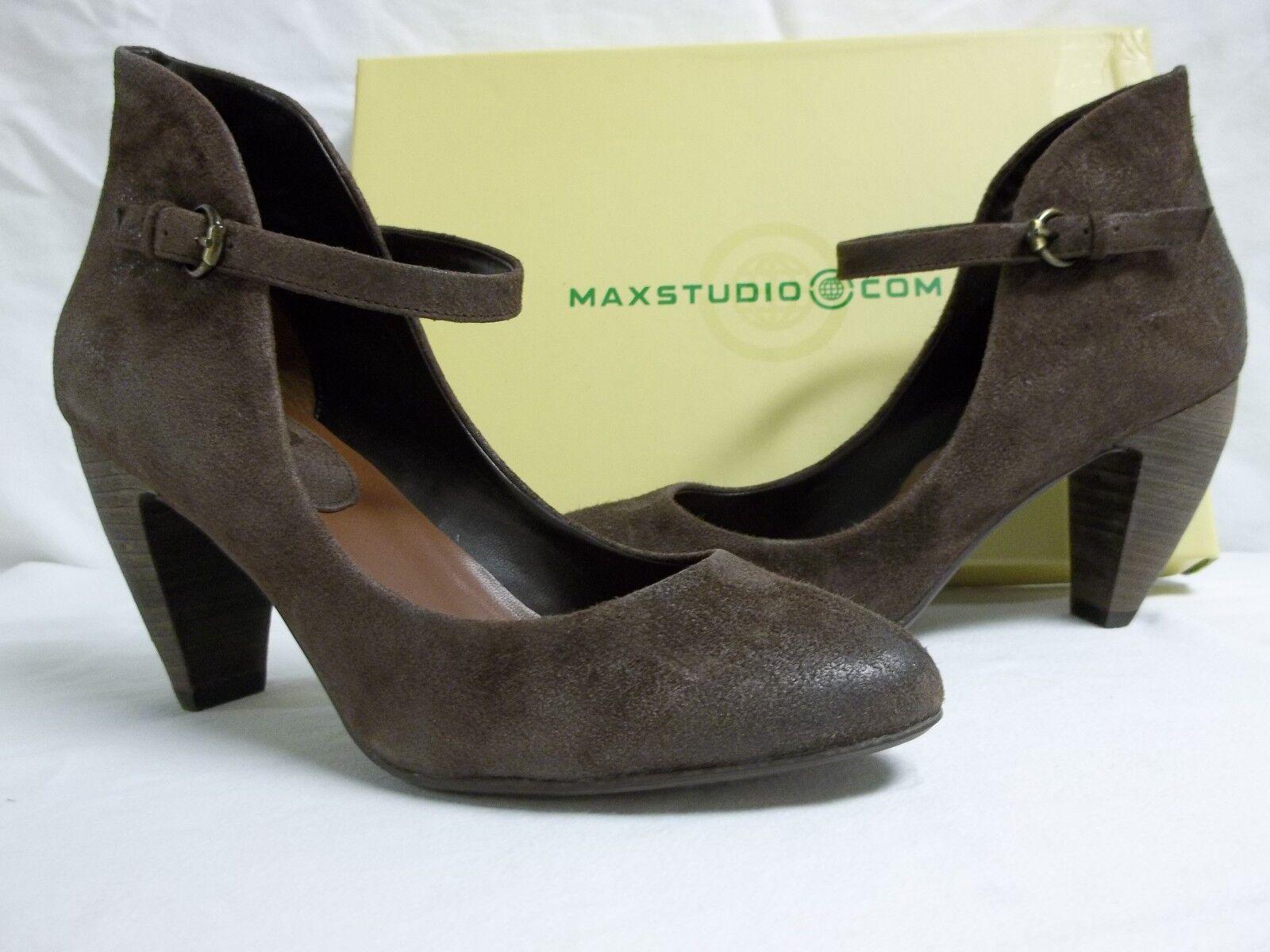 Max Studio Größe 7.5 M Beset Dark Braun Suede Mary Janes Heels NEU Damenschuhe Schuhes