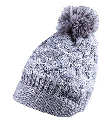 Kleidung & Accessoires Bench Acryl Grau Weiß Alanna Spitz Bommel Gestrickte Beanie-mütze Wintermütze Dauerhaft Im Einsatz Hüte & Mützen