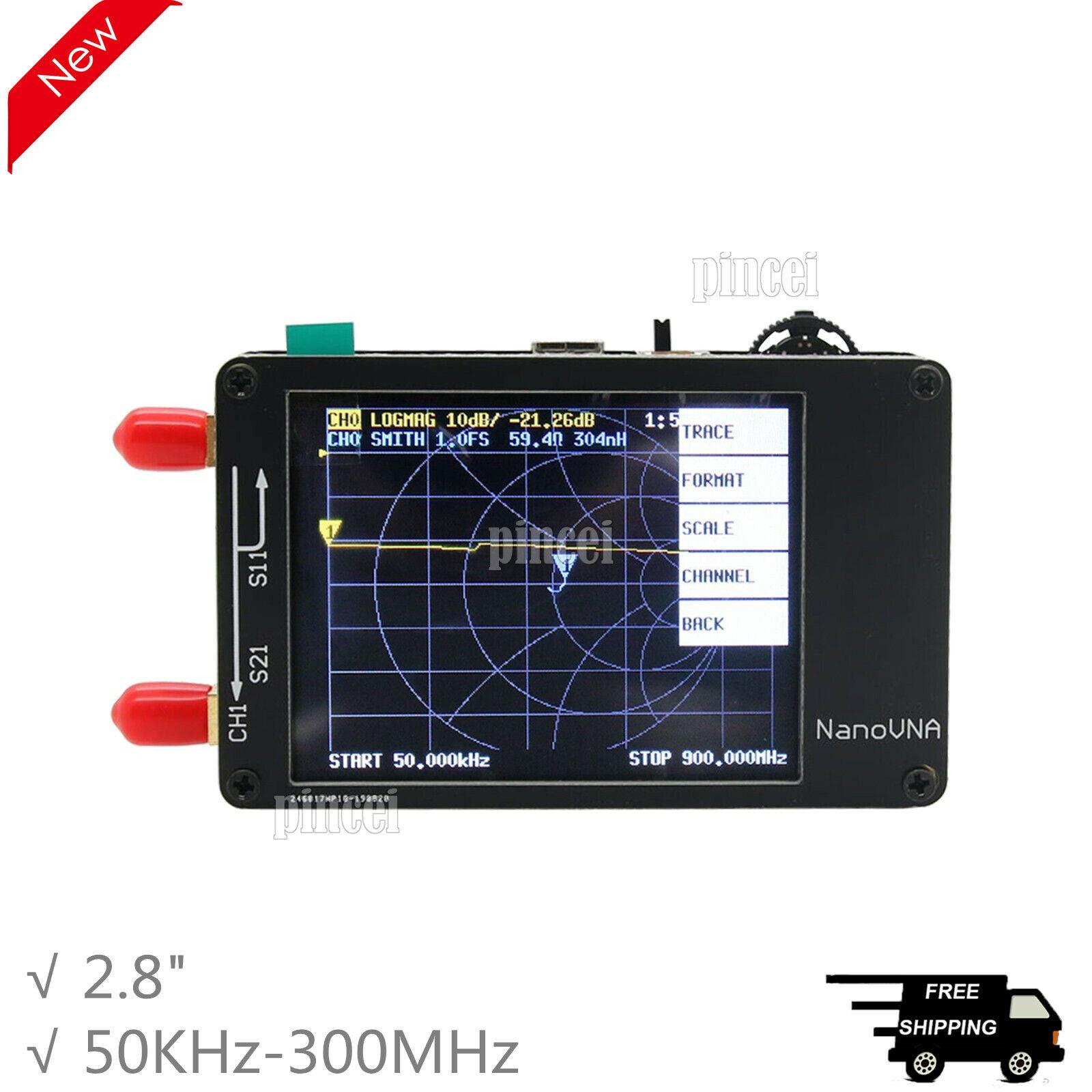 Vector Networks Analyzer 50-kHz-900-MHz-Antenne MF HF VHF 2,8-Zoll-Bildschirm DE