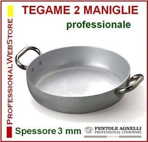 TEGAME-ALLUMINIO-2-maniglie-AGNELLI-cm-20-24-28-32-36-40-50-60-TEGAMI-PADELLE