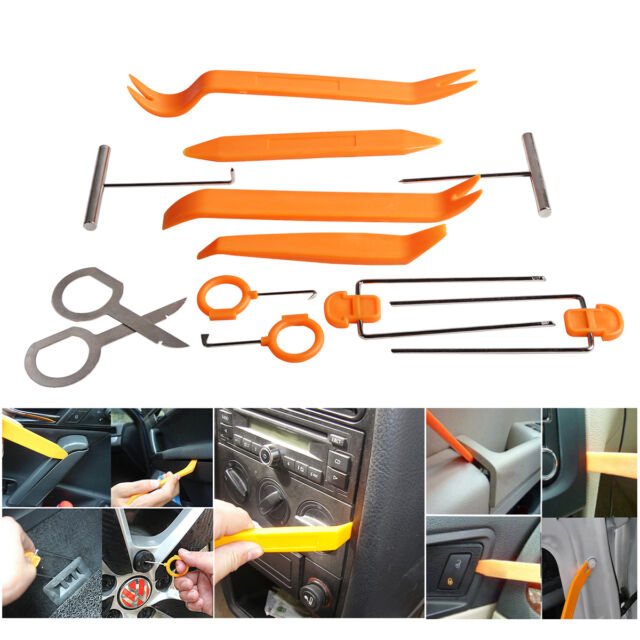 12pcs Car Trim Pry Removal Tool Kit Door Panel Clip Interior Light Dash Removal