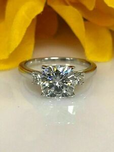 2Ct-Three-Stone-Cushion-Cut-Moissanite-Engagement-Ring-In-14K-White-Gold-FN