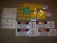 22 VINTAGE Pitman Crane Caution Decal sticker Safety 199-00-5279 HYDRA-LIFT NEw