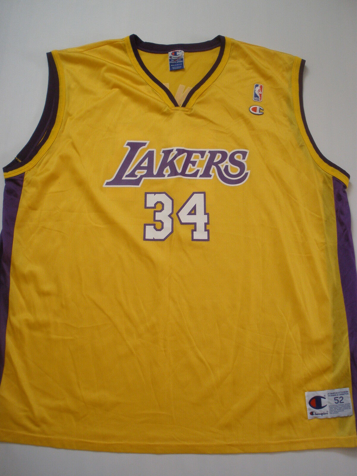 CHAMPION LA.LAKERS O'NEAL    34 jersey Größe 52  NEW SALE