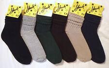 6 pair Ladies SLOUCH Socks 9-11 NWT - Mixed Dark Colors FREE USA SHIPPING